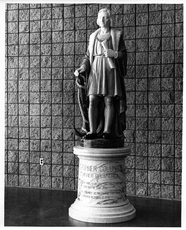 Statue of Christopher Columbus Inside the 1958-2005 San Jose City Hall Building