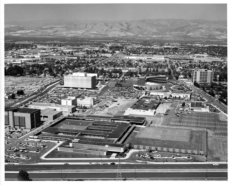 Aerial View of Downtown San Jose, California with New City Hall