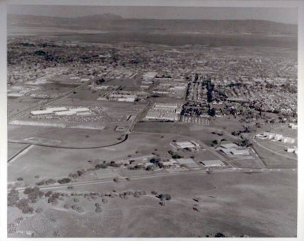 Aerial view of Stanford Industrial Park, 1960