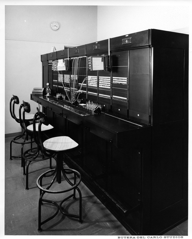 Telephone Switchboard System of the San Jose City Hall in the 1960s