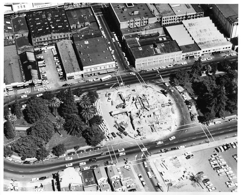 Aerial View of the Demolished Old San Jose City Hall Building
