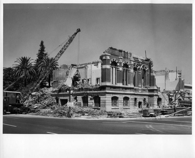 View of the Old San Jose City Hall Building Partially Demolished